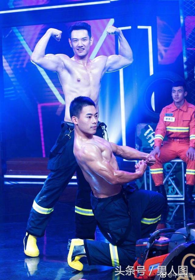 消防兵哥哥雄壮肌肉,带给人民安全感