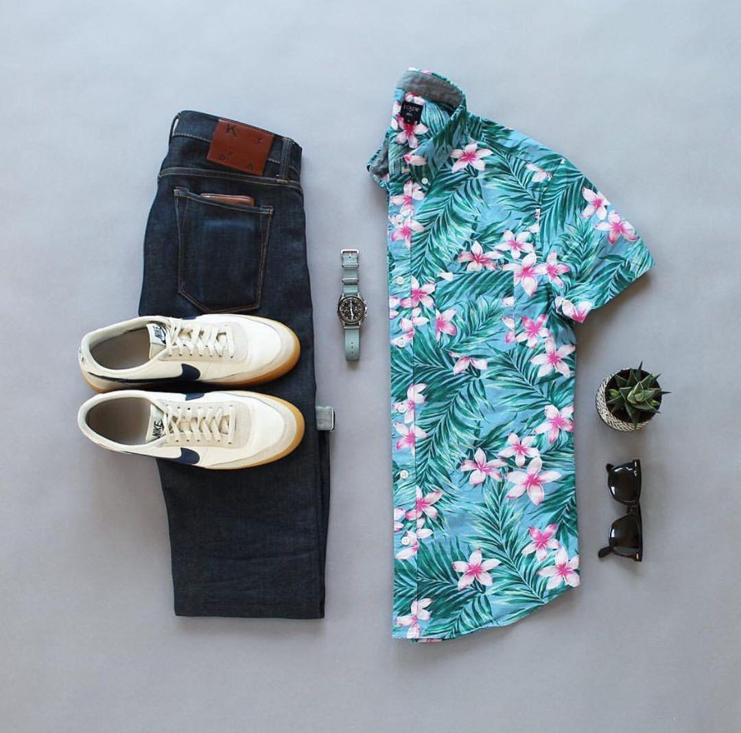 """男士穿""""花衬衫""""个性痞帅,像尽显潮男气质"""